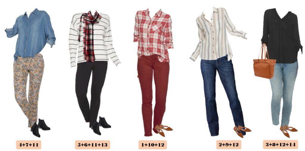 fall outfits that mix and match