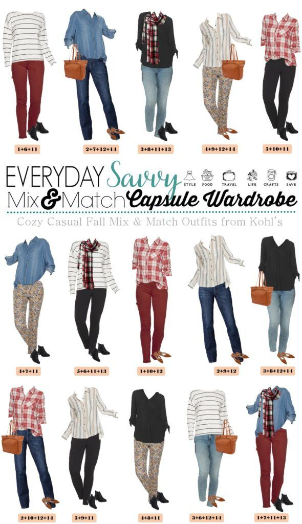 casual fall mix and match outfits from Kohls