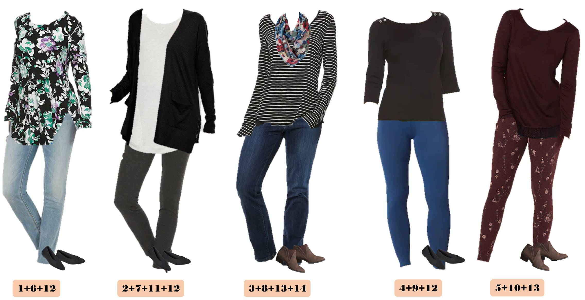 Kohls fall outfits that mix and match for fall capsule wardrobe