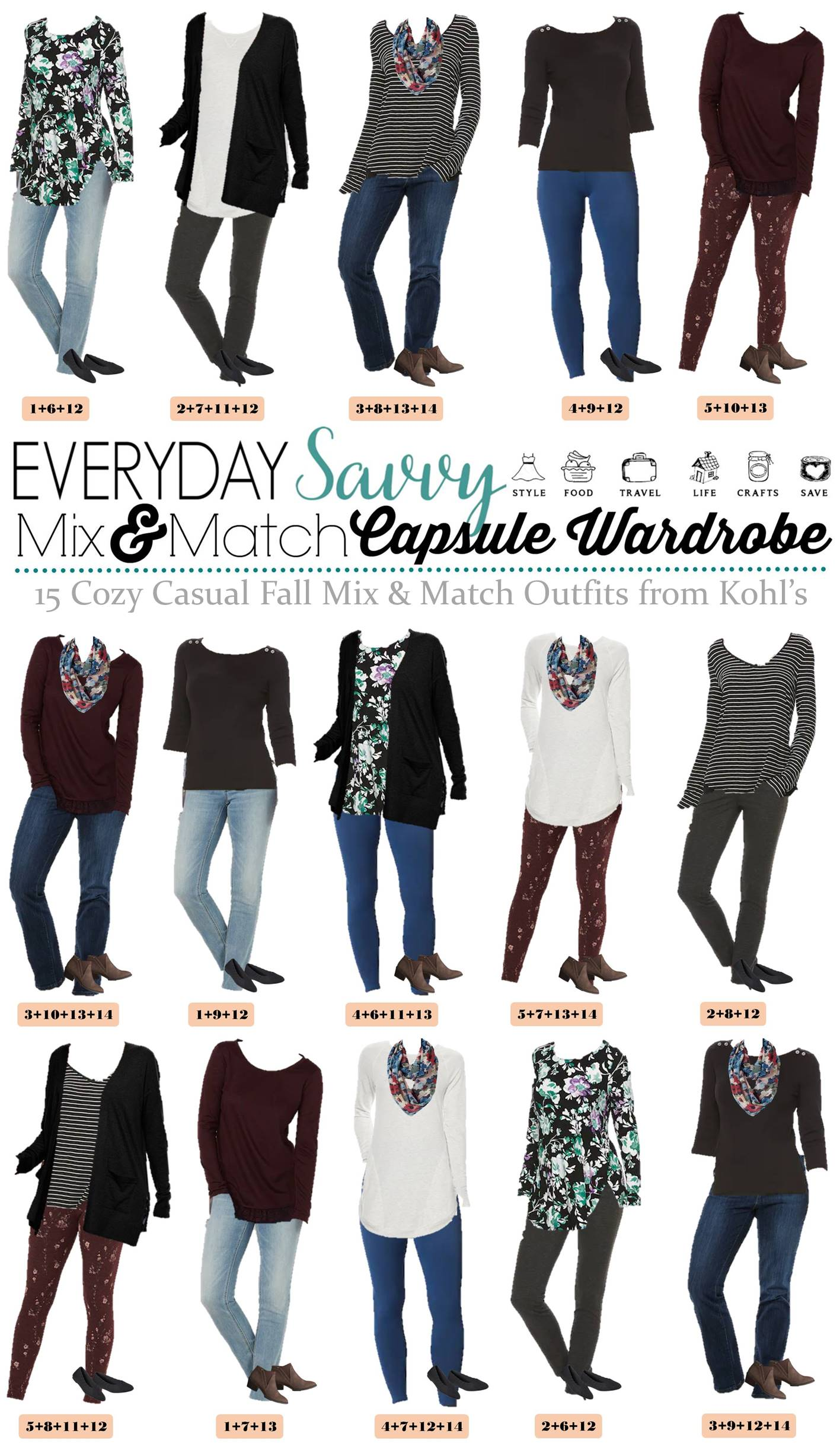Life As We Know It Muslimah Clothing Fashion Tips: 15 Mix And Match Cozy Casual Fall Outfits From Kohls