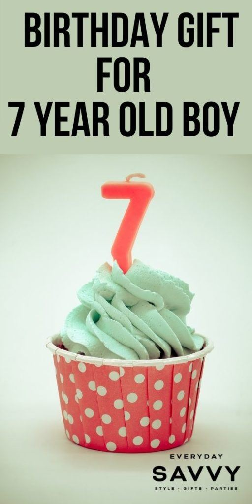 Birthday Gifts for 7 Year Old Boy - Cupcake with 7 Birthday Candle