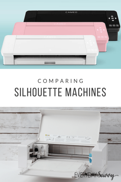 multiple silhouette machines - opened and closed