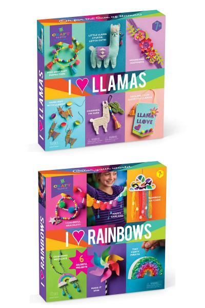 I love Llamas and I love rainbows Craft kits