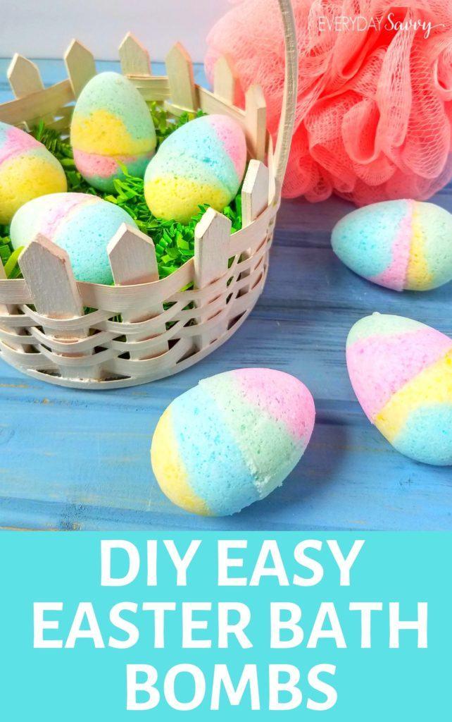 DIY Easy Easter Bath Bombs