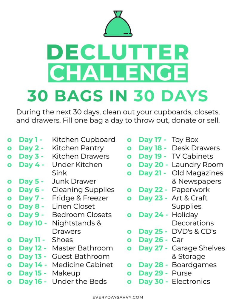 30 bags in 30 days declutter challenge