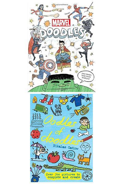 doodle books - marvel doodles and oodles of doodles