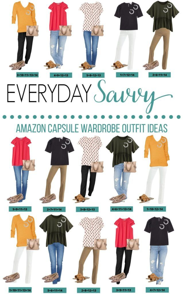 Spring Capsule Wardrobe Outfit Ideas from Amazon  - 15 Mix and Match Outfits