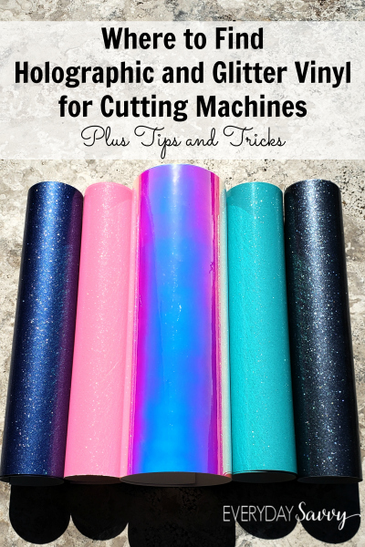 holographic and glitter vinyl rolls for cutting machines