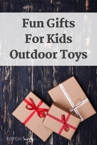 Outdoor gifts for kids - presents with ribbon