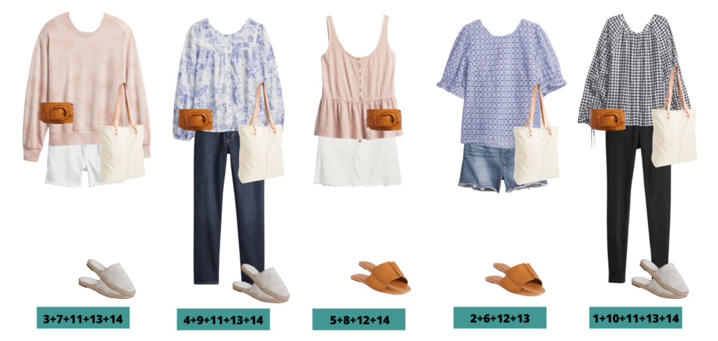 5 Cute spring Outfits - Eyelet, tie-dye and gingham