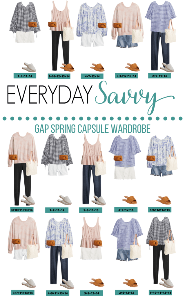 15 Cute Spring Outfits that mix and match to make a spring capsulw wardrobe