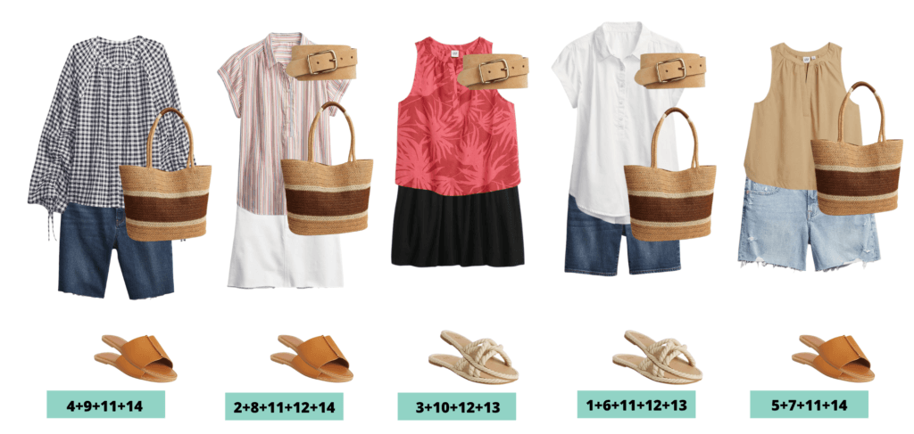 Casual Summer Outfit Ideas - 5 summer outfits made with Gap Summer Clothes