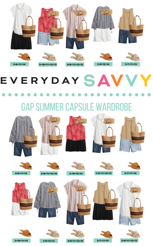 Casual Summer Outfit Ideas - 15 summer outfits made with Gap Summer Clothes