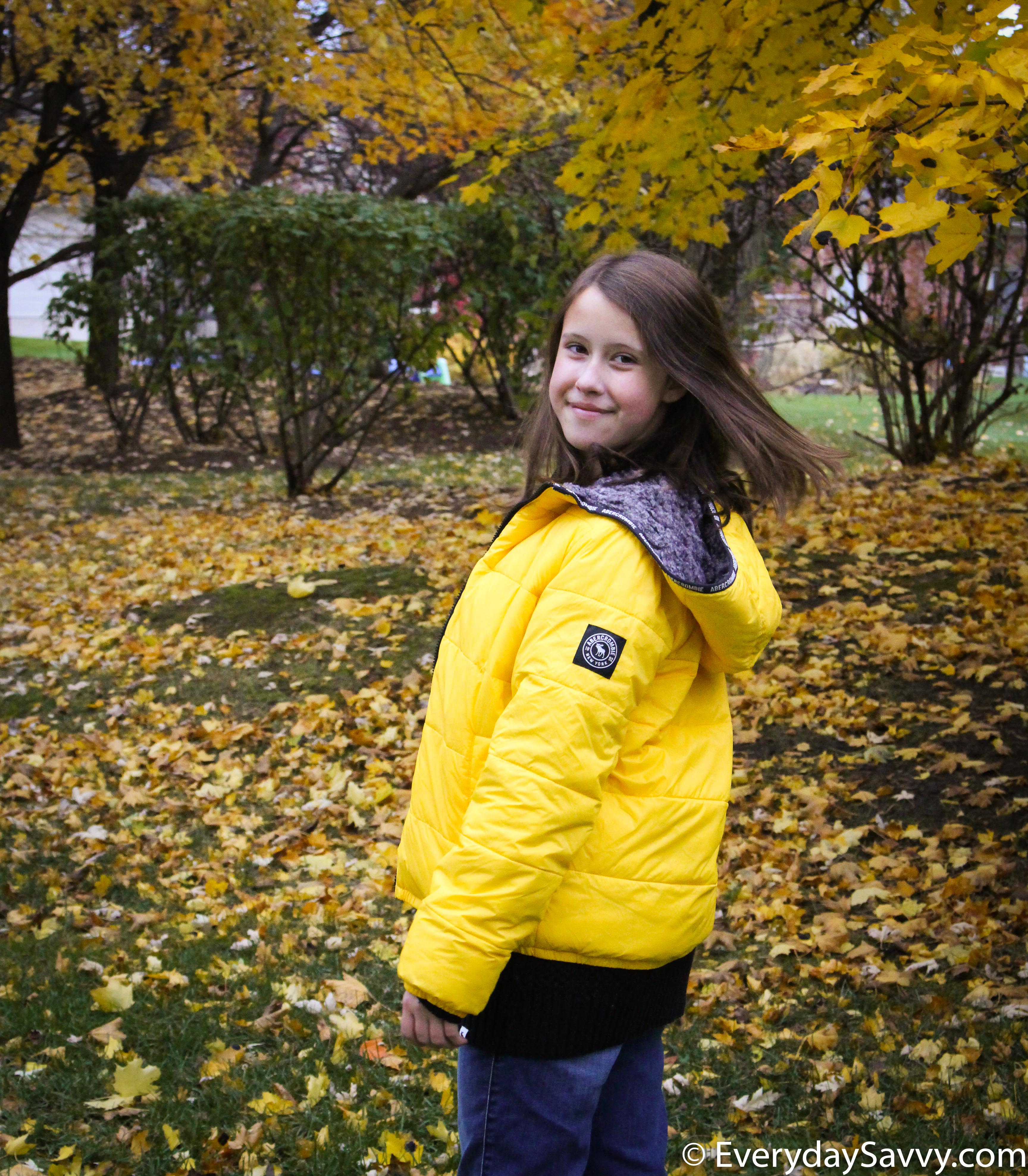 cozy winter jacket with faux fur lining great for tweens - girls and boys