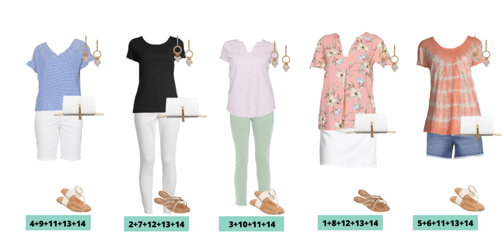 JCPenney Spring Clothes Capsule Wardrobe - 5 Mix and Match Spring Outfit