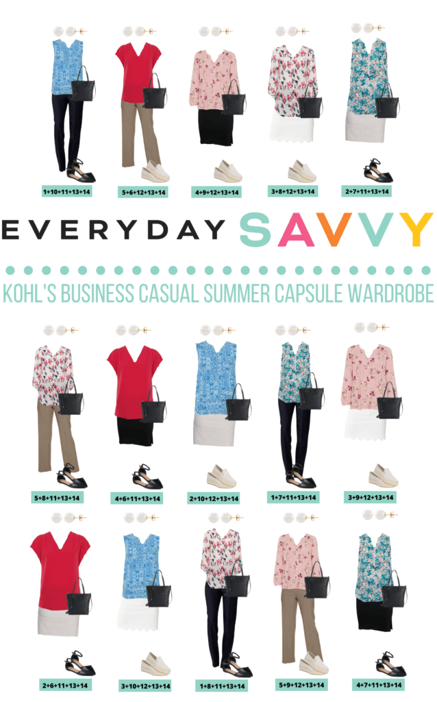 business casual summer outfits - 15 outfits that mix and match for a summer capsule wardrobe