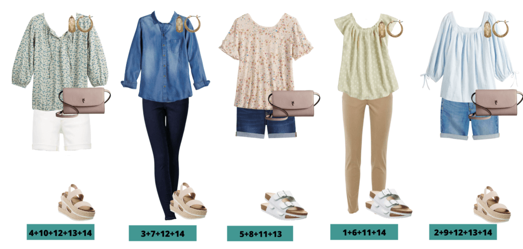 5 mix and match spring clothes ideas that make a capsule wardrobe