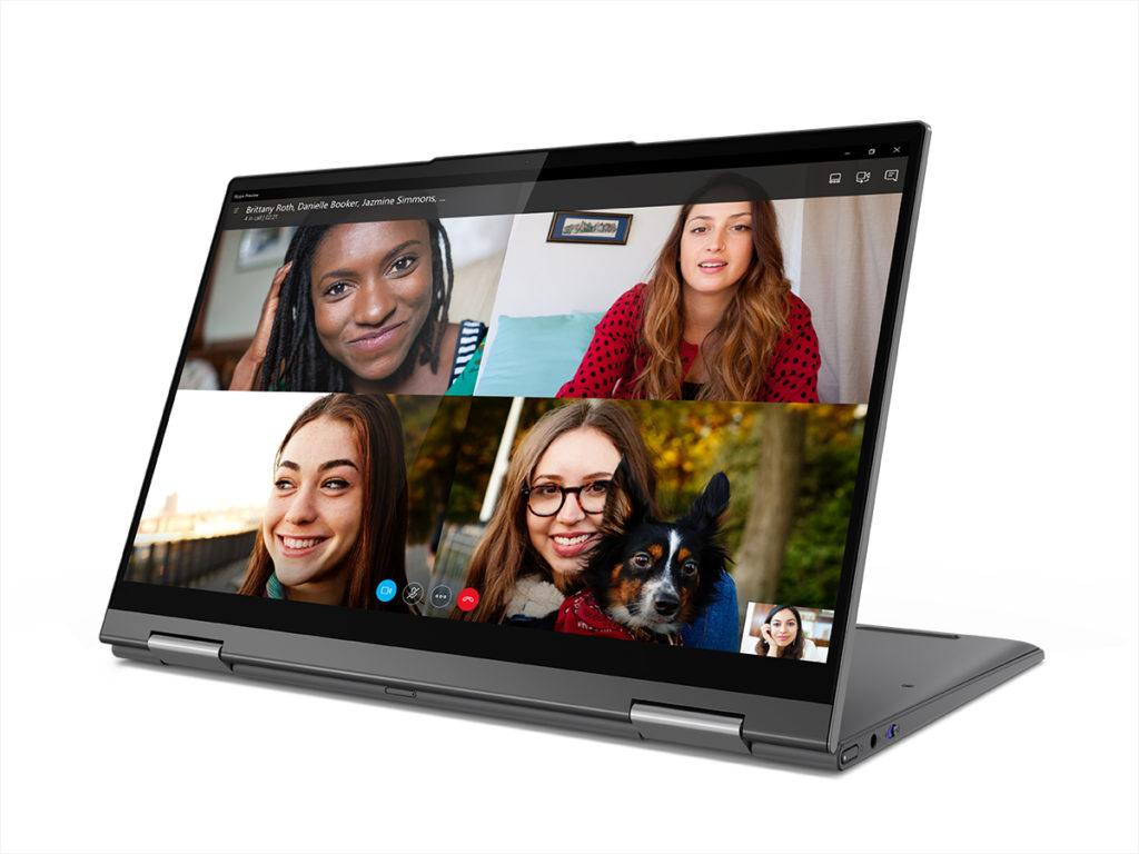 Lenovo® Flex™ 5G - images of 4 women on screen