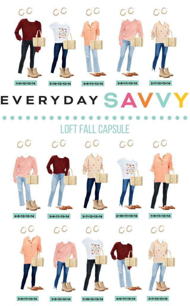 Loft Fall Clothing Capsule Wardrobe - 15 fall outfits