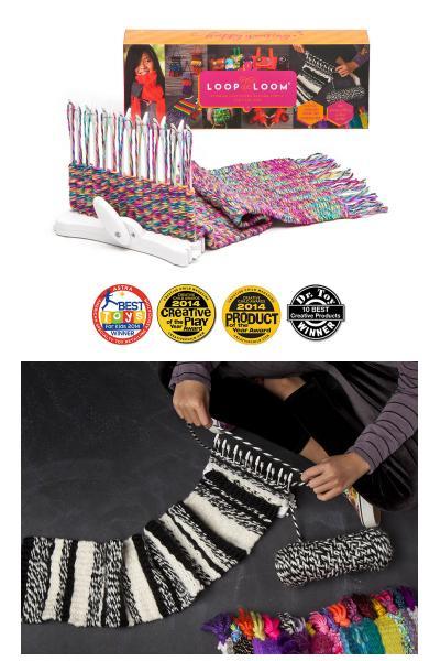 loop loom and scarf made with loop loom