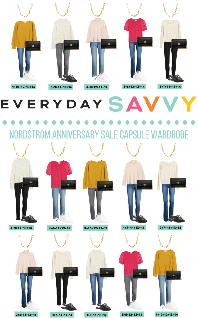 Nordstrom Capsule Wardrobe - 15 fall outfits from Nordstrom Anniversary Sale