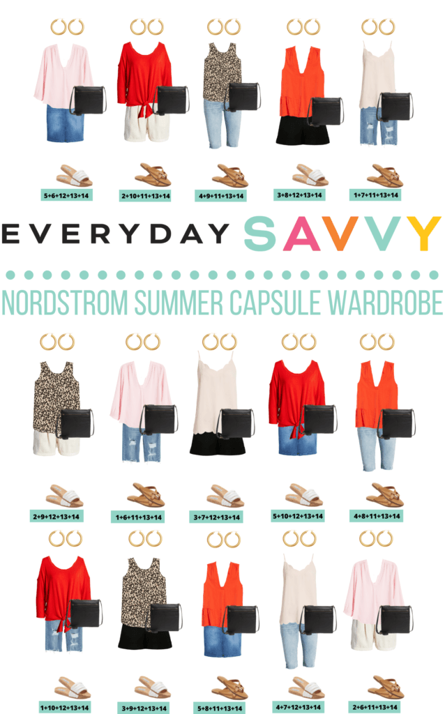 cute summer outfit ideas - summer capsule wardrobe of 15 outfits