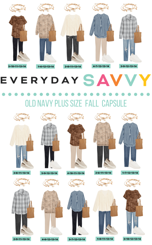 Plus Size Fall Outfits Capsule Wardrobe Old Navy