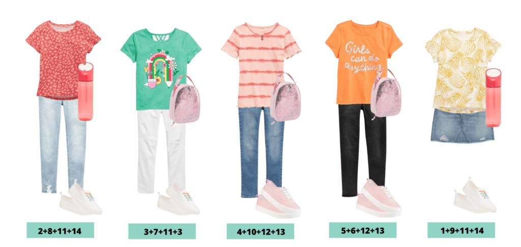 Girls back to school clothes outfits