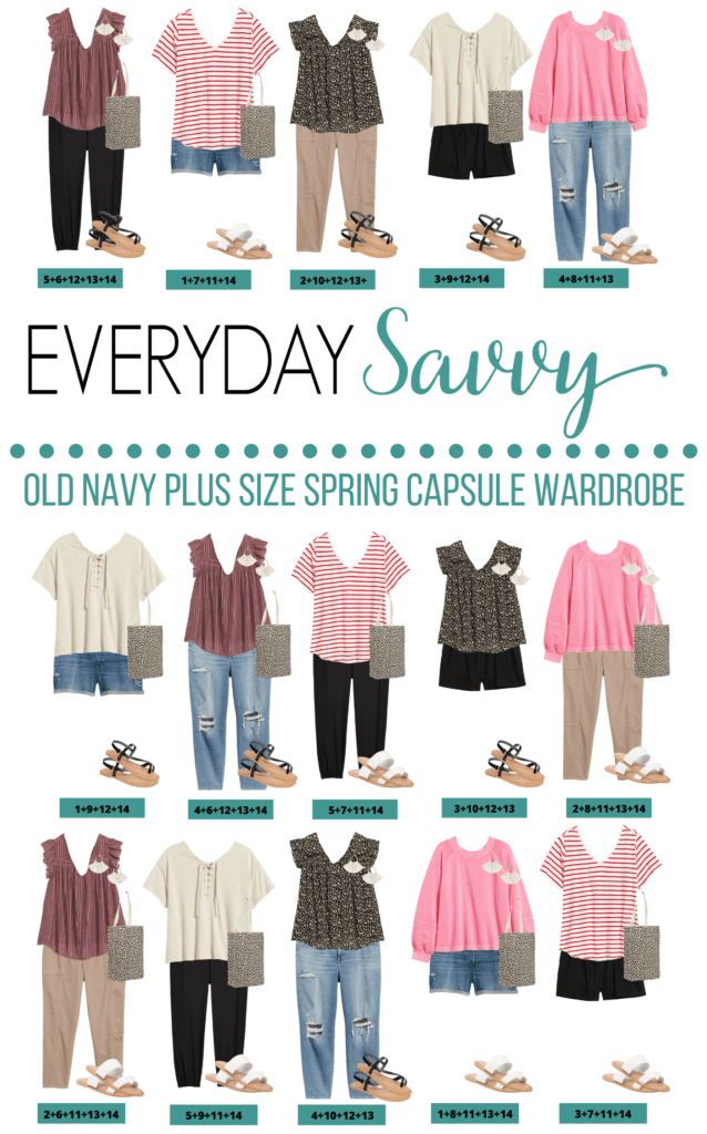 Old Navy Plus Size Spring Outfits Capsule Wardrobe