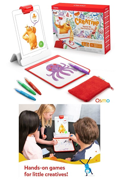 kids playing with Osmo Creative Starter Kit for iPad