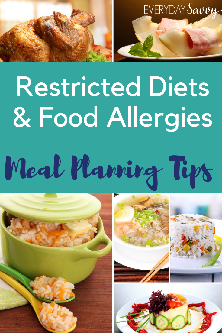 tips for meal planning with restricted diets and food allergies