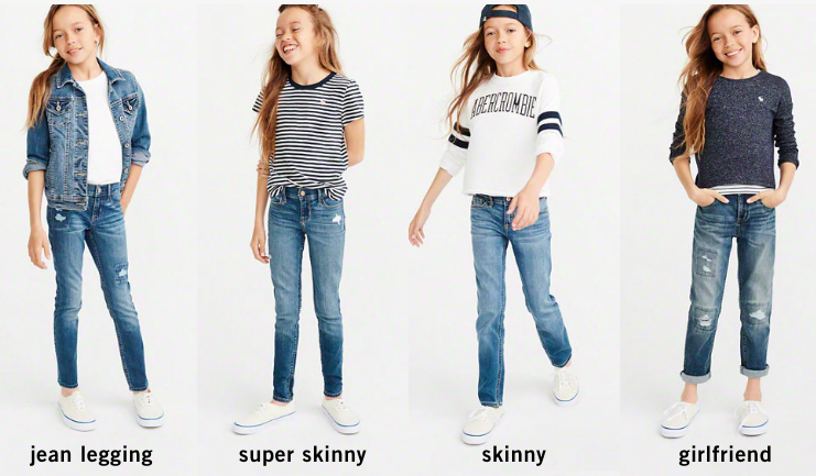 abercrombie kids jeans - lots of styles