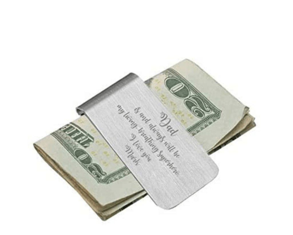 personalized stainless steel money clip
