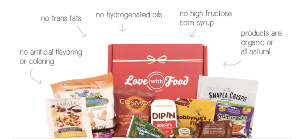 Love with Food - Healthy Snack Subscription Box