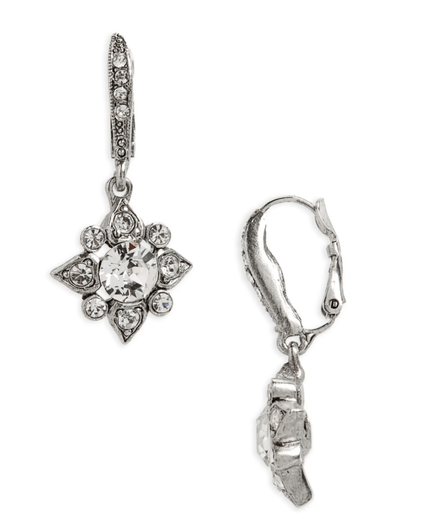 Oscar De La Renta Delicate Crystal Drops Earrings
