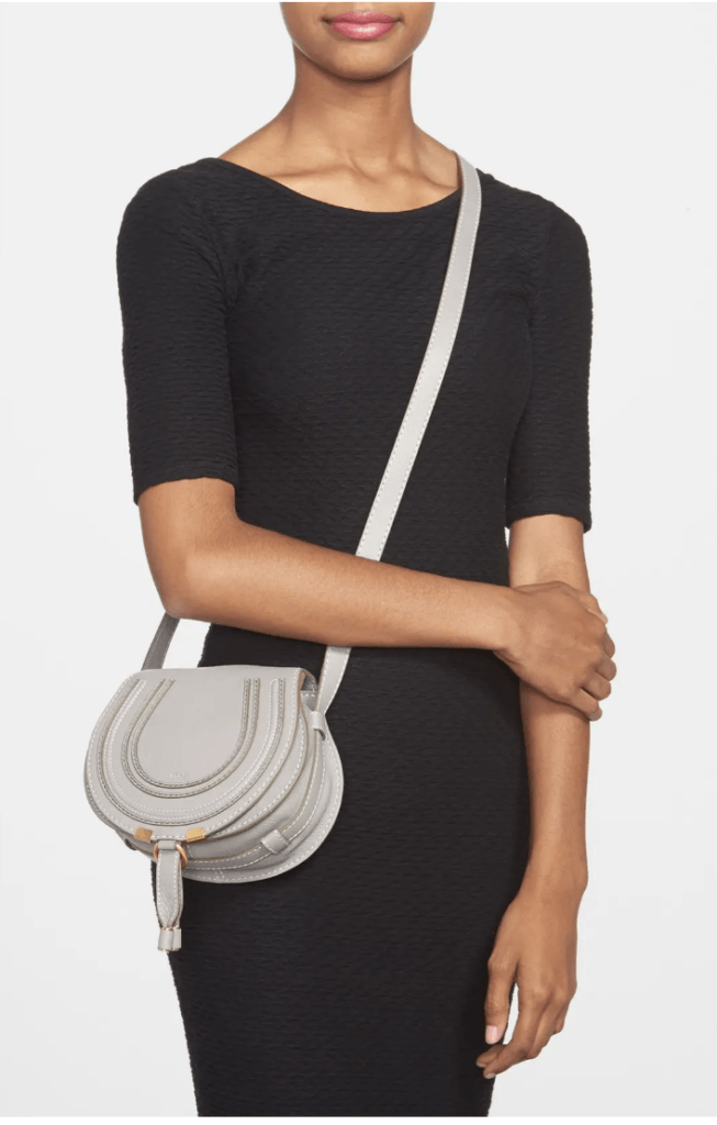 Chloe Mini Marcie Leather Bag on model