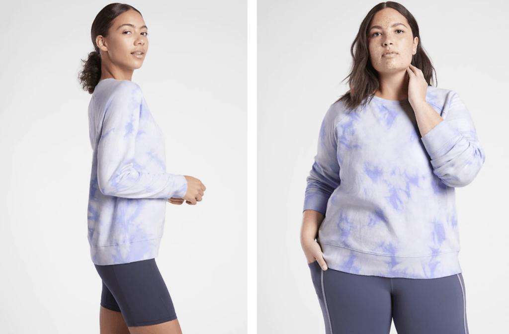 Athleta tye dye sweatshirt