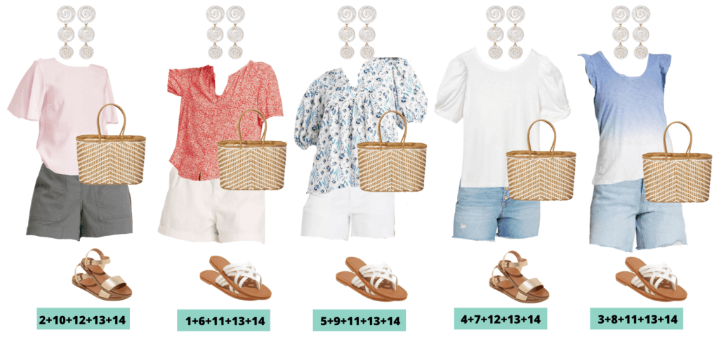 Target Summer Clothes - Summer Outfits Capsule Wardrobe - 5 cute summer outfits