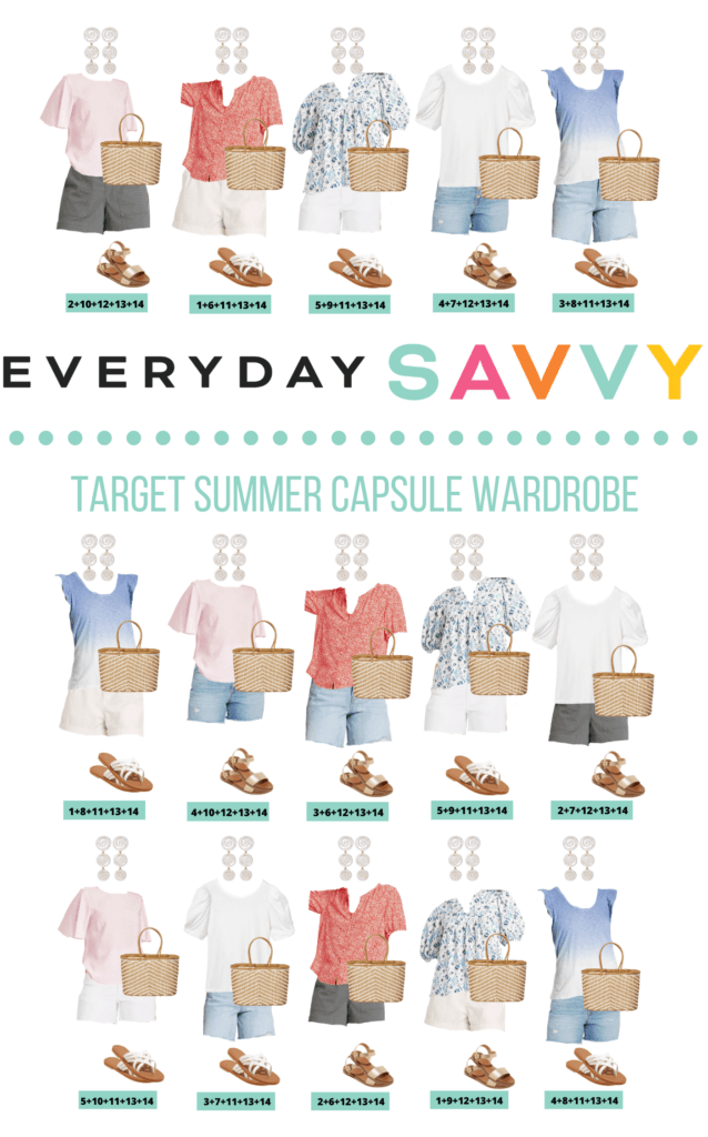 Target Summer Clothes - Summer Outfits Capsule Wardrobe - 15 cute summer outfits