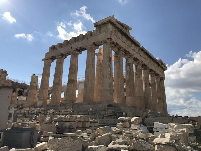 The Acropolis athens greece