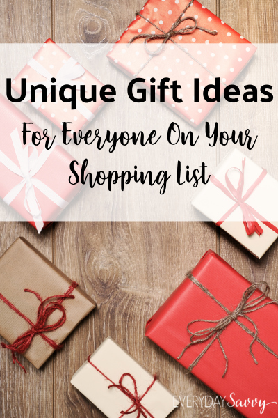 Present and gift ideas for everyone on your shopping list. Makes shopping easy