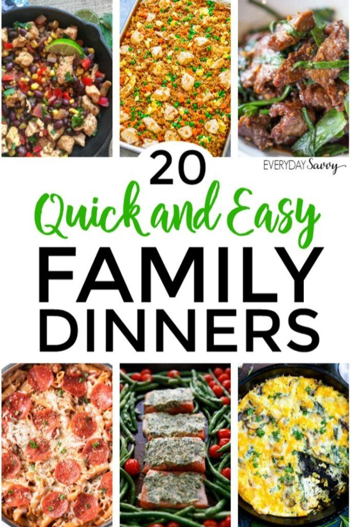 twenty plus quick and easy dinner ideas for family