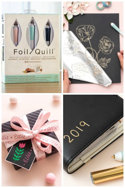 Foil Quill set and book written on with foil quill