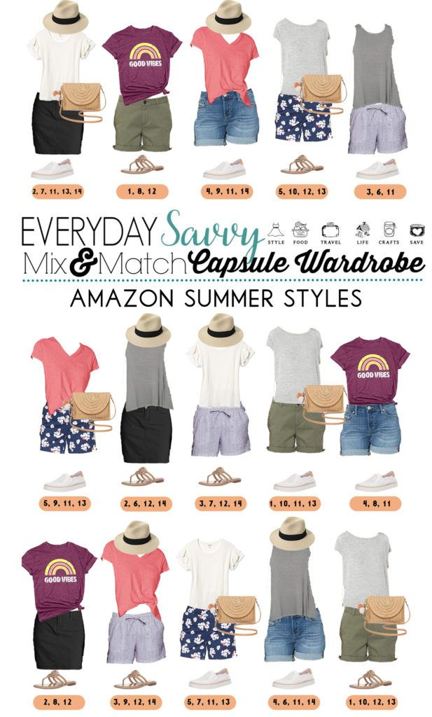 amazon summer clothes- tshirts, shorts, skorts, graphic tee