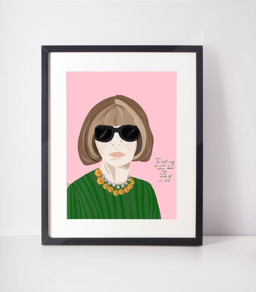 Anna Wintour - Fashion Icon Print