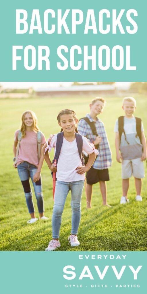 Backpacks for school - kids with backpacks