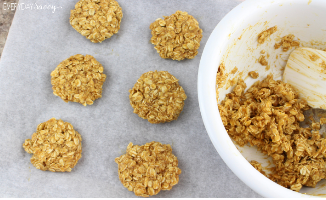 cookies made into pumpkin oatmeal balls