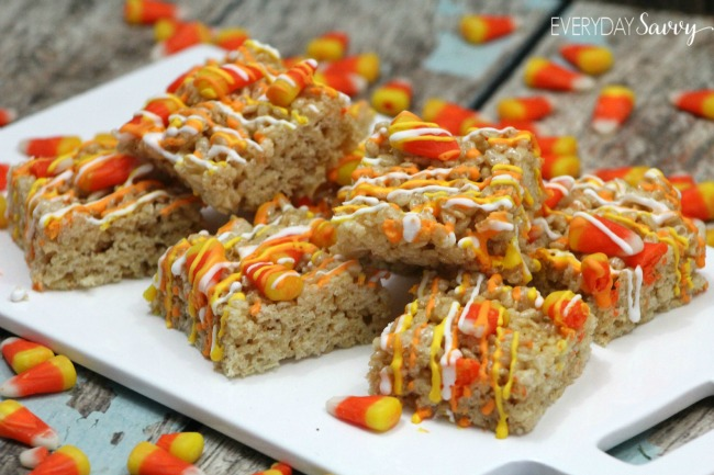 yummy candy corn rice crispy treats recipe perfect fall recipe with candy corn royal