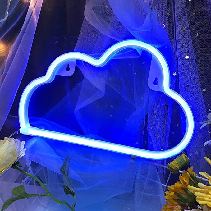 blue cloud LED light room decor