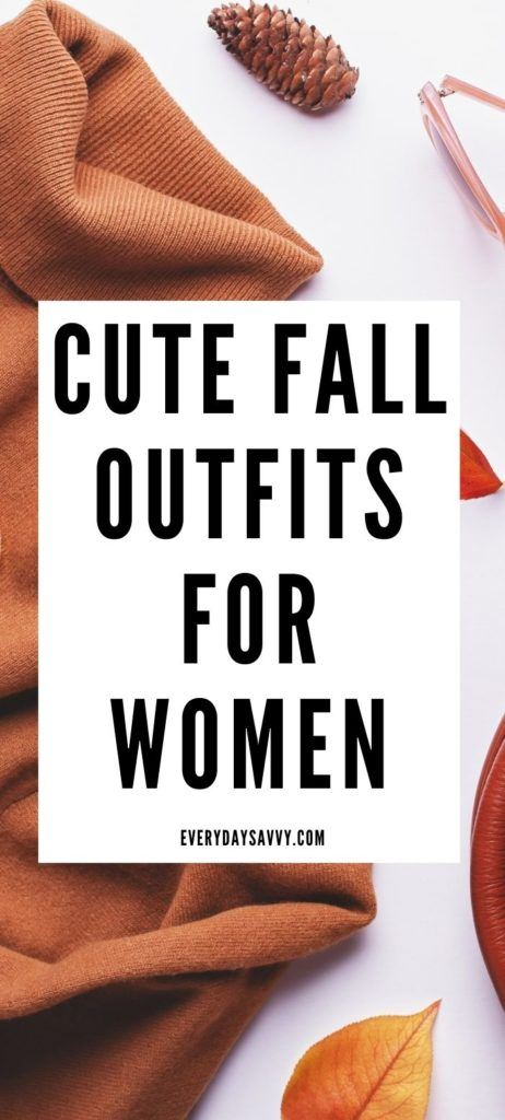 cute fall outfits for women graphic with turtleneck swearer, glasses, pinecone and leaf